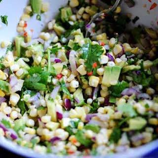 Fresh Corn and Avocado Salsa.