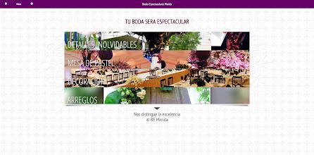 Photo: Diseño Web - Nuevo proyecto desarrollado para Bodas Espectaculares Merida