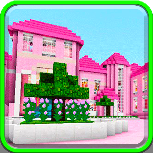 Pink dollhouse games map for MCPE roblox ed.