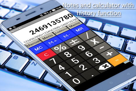 Notes and calculator with history function- screenshot thumbnail
