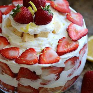 Strawberry & Lemon Pound Cake Trifle.