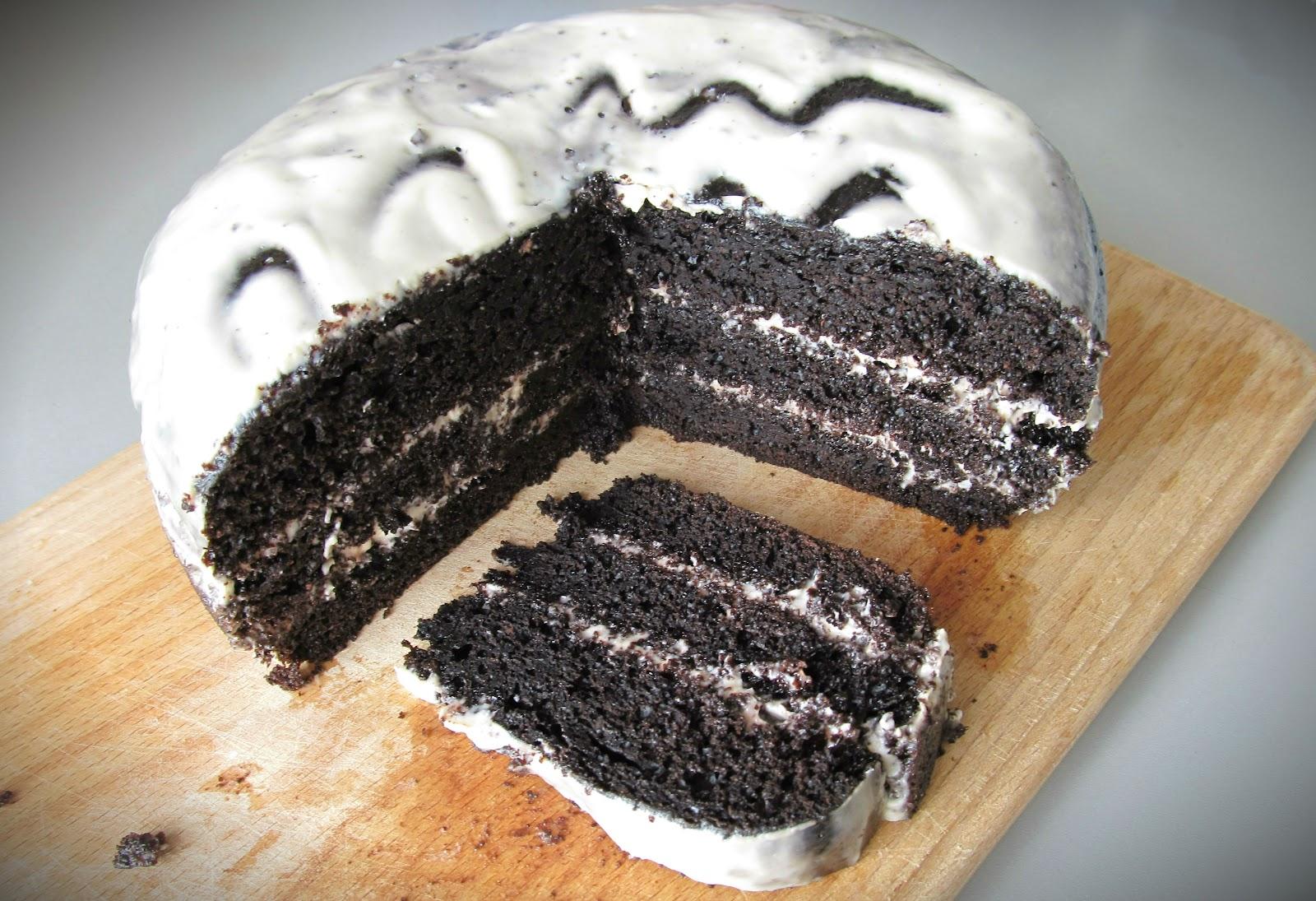 Рецепт шоколадного Бісквіту на окропі для мультиварки