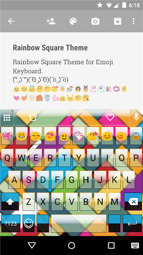 Rainbow Square Emoji Keyboard
