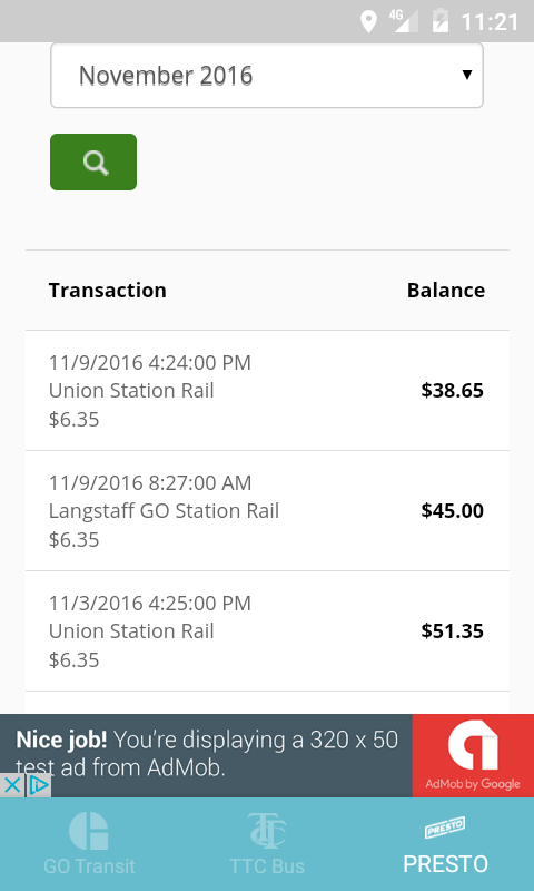 Transsistant For Presto Card Android Apps On Google Play