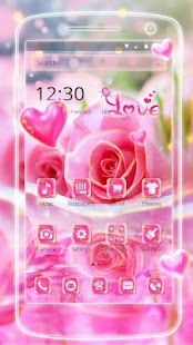 Beautiful Pink Rose Theme - náhled