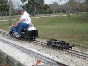 Photo: Doug Gillory pulling his 2-8-0 chassis