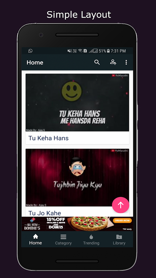 Video Lyrics Status- screenshot