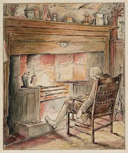 Photo: 1902 British fireplace showing a hobgrate with tea kettle