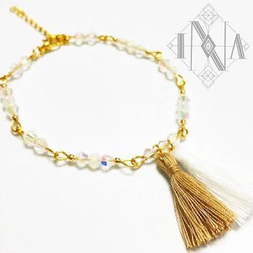 golden tassel bracelet