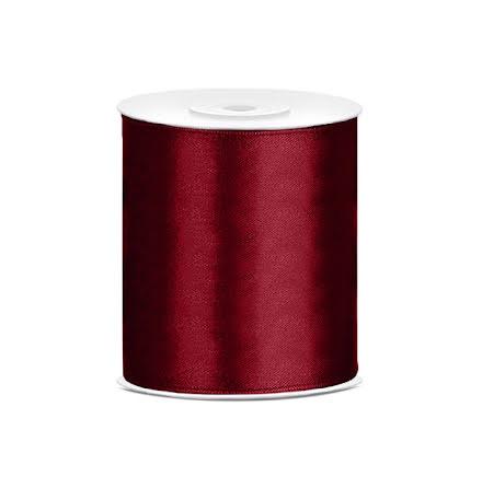 Satinband - Mörkröd 100 mm