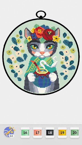 Cross Stitch Club u2014 Color by Numbers with a Hoop apktram screenshots 4