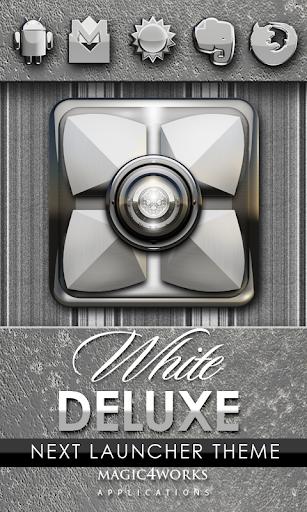 Next Launcher Theme White