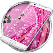 Dialer Sparkling Pink Theme