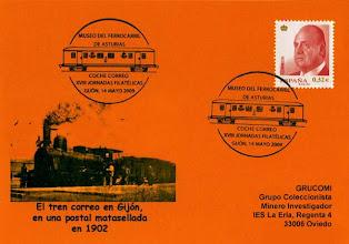 Photo: Matasellos de las XVIII Jornadas filatélicas de Gijón en el Museo del Ferrocarril 2009