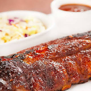 Baby Back Ribs with Whiskey BBQ Sauce.
