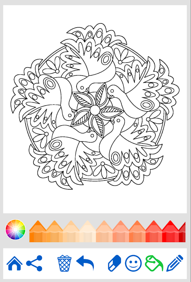 coloring book animal mandala android apps on google play. Black Bedroom Furniture Sets. Home Design Ideas