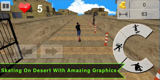 Code Triche Flip Skater Game,Pro Skateboard Endles 3D game mod apk screenshots 4