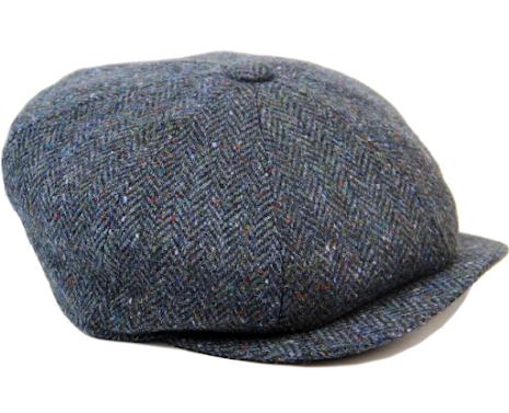 Donegal Tweed Alfie blå/inslag