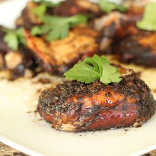 Crock Pot Balsamic Chicken Thighs.