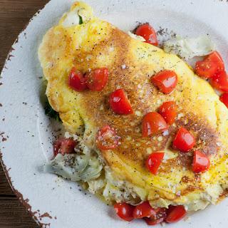Brie Artichoke Souffle Omelet.