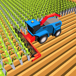 Blocky Plow Farming Harvester Icon