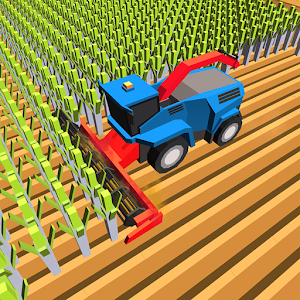 Blocky Plow Farming Harvester for PC and MAC