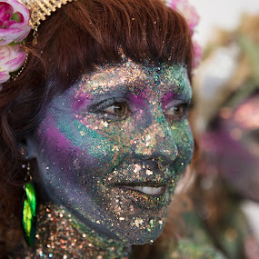 Mermaid by VAM Photography - People Street & Candids ( mermaid parade, places, woman, candid, culture, glitter, costume )