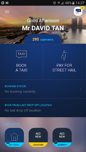 ComfortDelGro Taxi Booking App screenshot