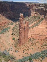 Photo: Driving the S Rim road the next day.  Spider Rock, where we'll camp the next night.