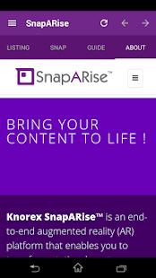 SnapARise - náhled