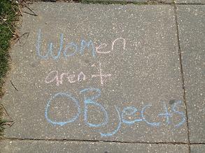 Photo: Sidewalk chalking in Washington, DC. 4.7.13