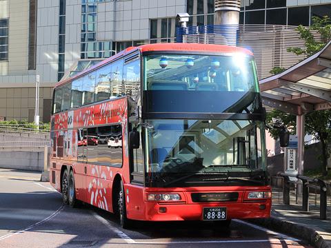 WILLER(網走バス)「レストランバス」 札幌8888 札幌駅北口到着 その2