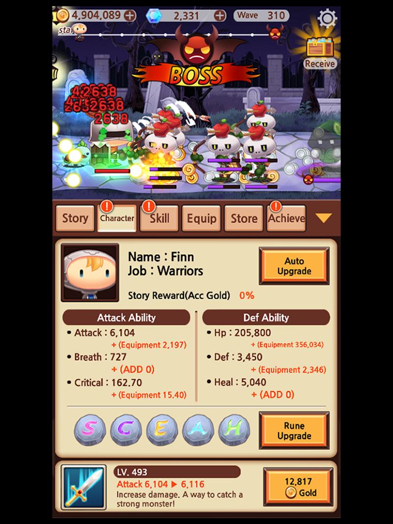 Sudden Warrior (Tap RPG) Screenshot 10