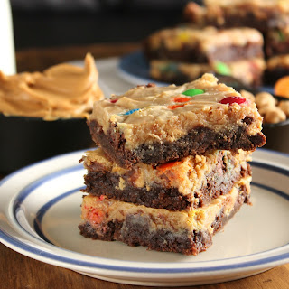 Peanut Butter Brownie Magic Bars #OXOGoodBrownie