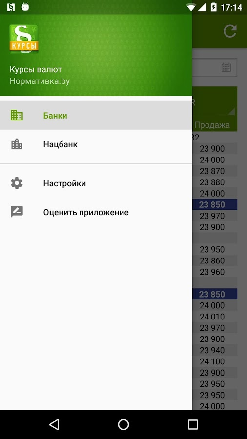Курсы валют Нормативка.by- screenshot