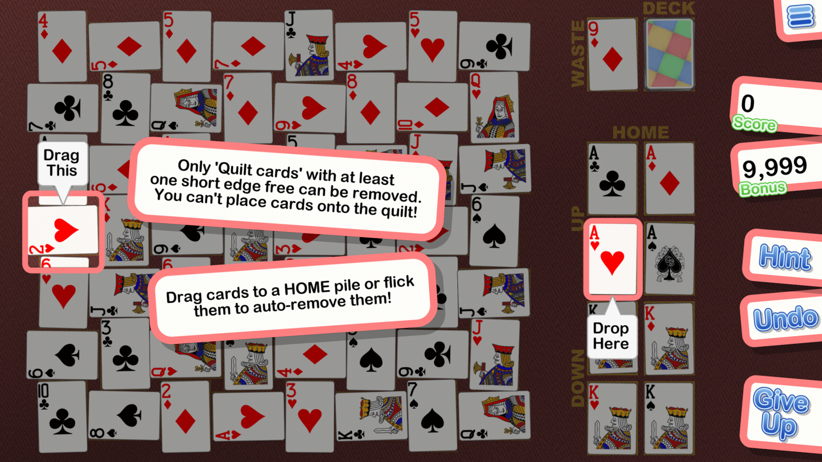 Crystal Crazy Quilt Solitaire- screenshot