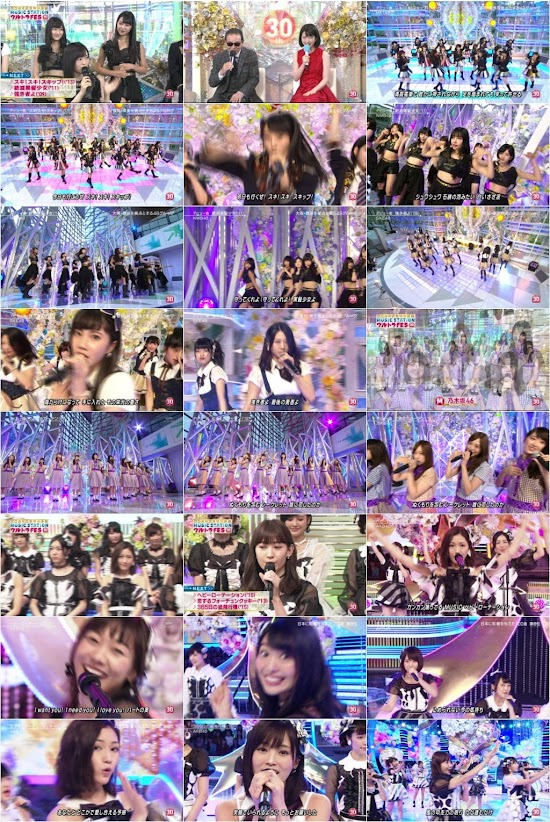 160919 AKB48G Nogizaka46 Part - Music Station ウルトラFES 2016