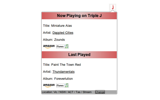 Now Playing on Triple-J