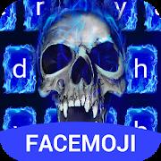 App Blue Fire Skull Emoji Keyboard Theme APK for Windows Phone