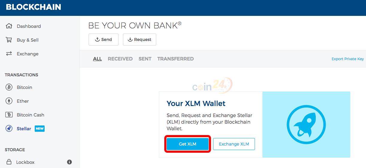 Hướng dẫn sử dụng XLM trên ví blockchain.com - tạo ví XLM