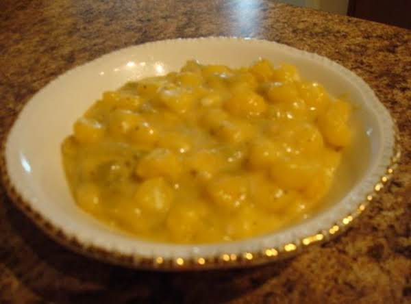 Hominy With Green Chilies And Cheese
