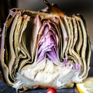 Roasted Artichoke Stuffed with Garlic and Sage