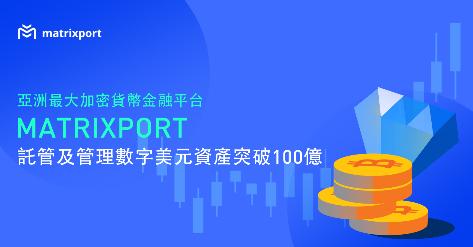 【快訊】亞洲最大加密貨幣金融平台 Matrixport 託管及管理加密貨幣美元資產突破 100 億