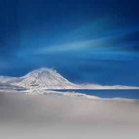 Touchal by Fereshteh Molavi - Landscapes Mountains & Hills ( blue )