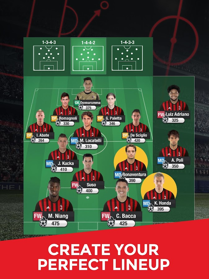 AC Milan Fantasy Manager 2017- screenshot