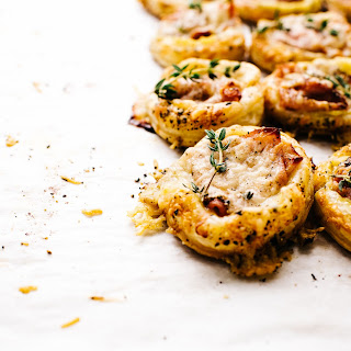 Mini Ham and Cheese Croque Monsieur Puff Pastry Tarts.