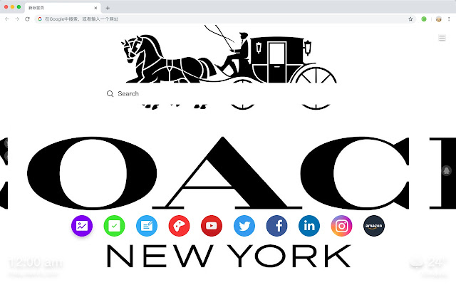 Coach Popular Brand Hd New Tab Page Theme Chrome Web Store