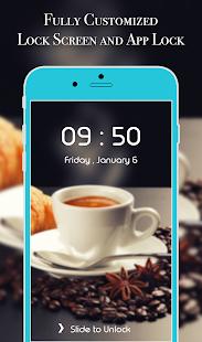 App Lock Theme - Coffee - náhled