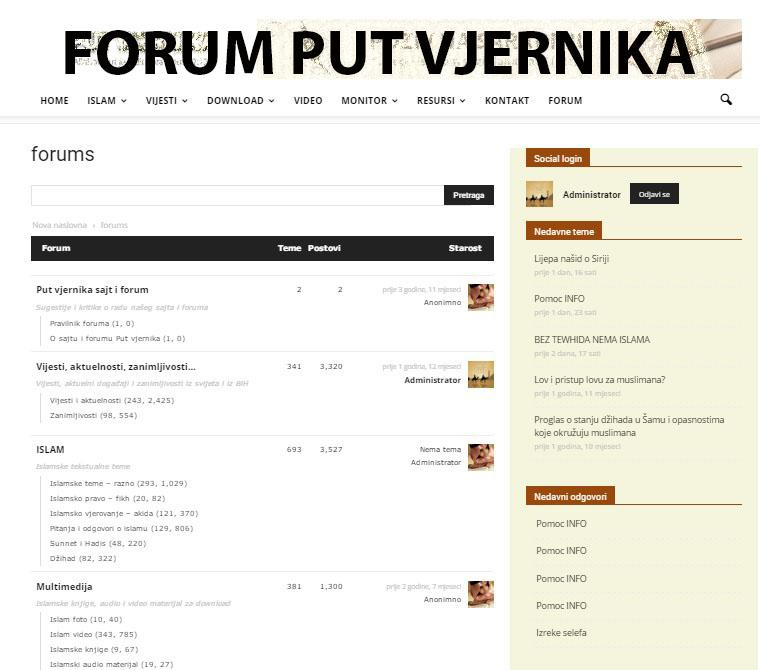 Put vjernika app- screenshot