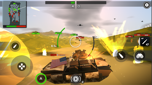 Poly Tank 2: Battle Sandbox apkmind screenshots 2